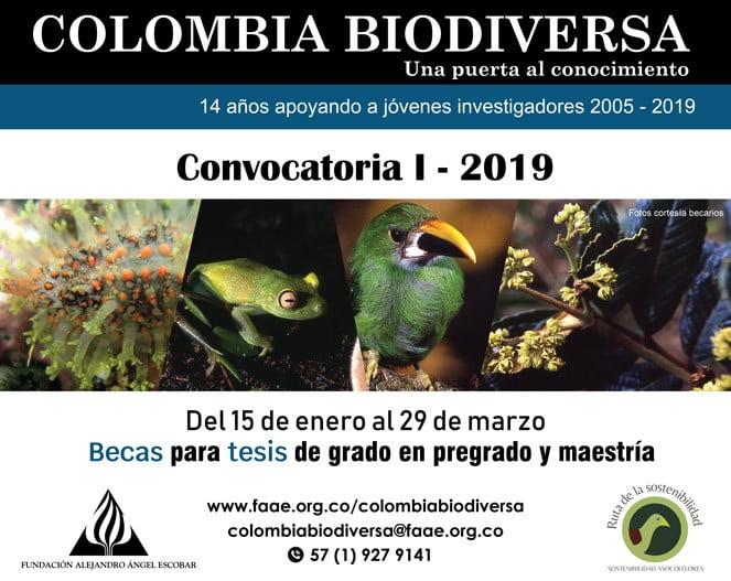 Convocatoria – Becas Colombia Biodiversa 2019